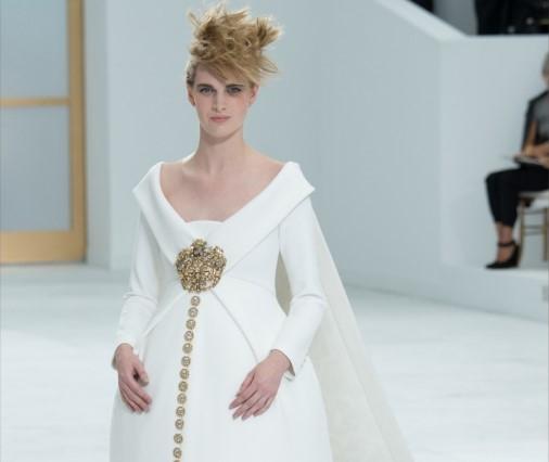 Эшли Гуд на показе Chanel Haute Couture