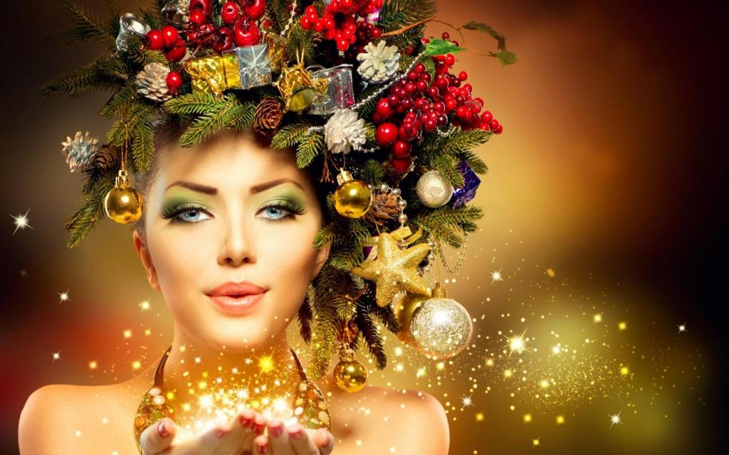 girl-model-makeup-winter-christmas-new-year