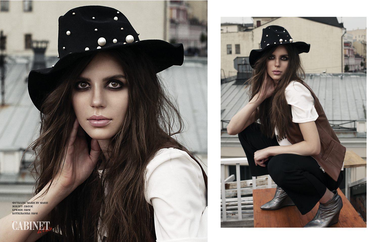 Шляпа: Rosegal, футболка: Marie By Marie, жилет: Z&Zoe, брюки: H&M, ботильоны: H&M
