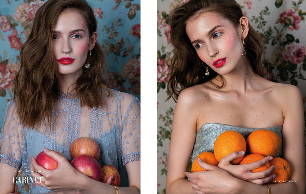 Справа платье Peter Som, слева платье Self-Portrait