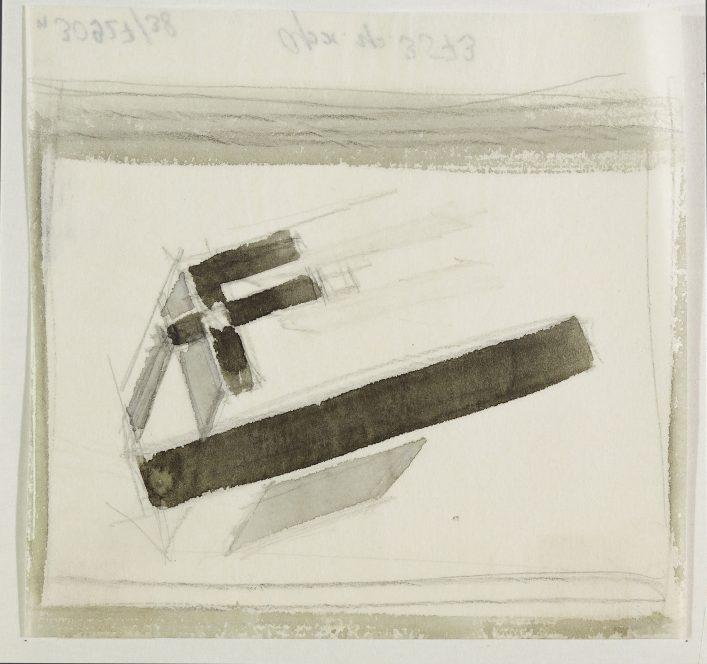 Проун 88. Около 1923. Черная акварель. 10,7 х 10.