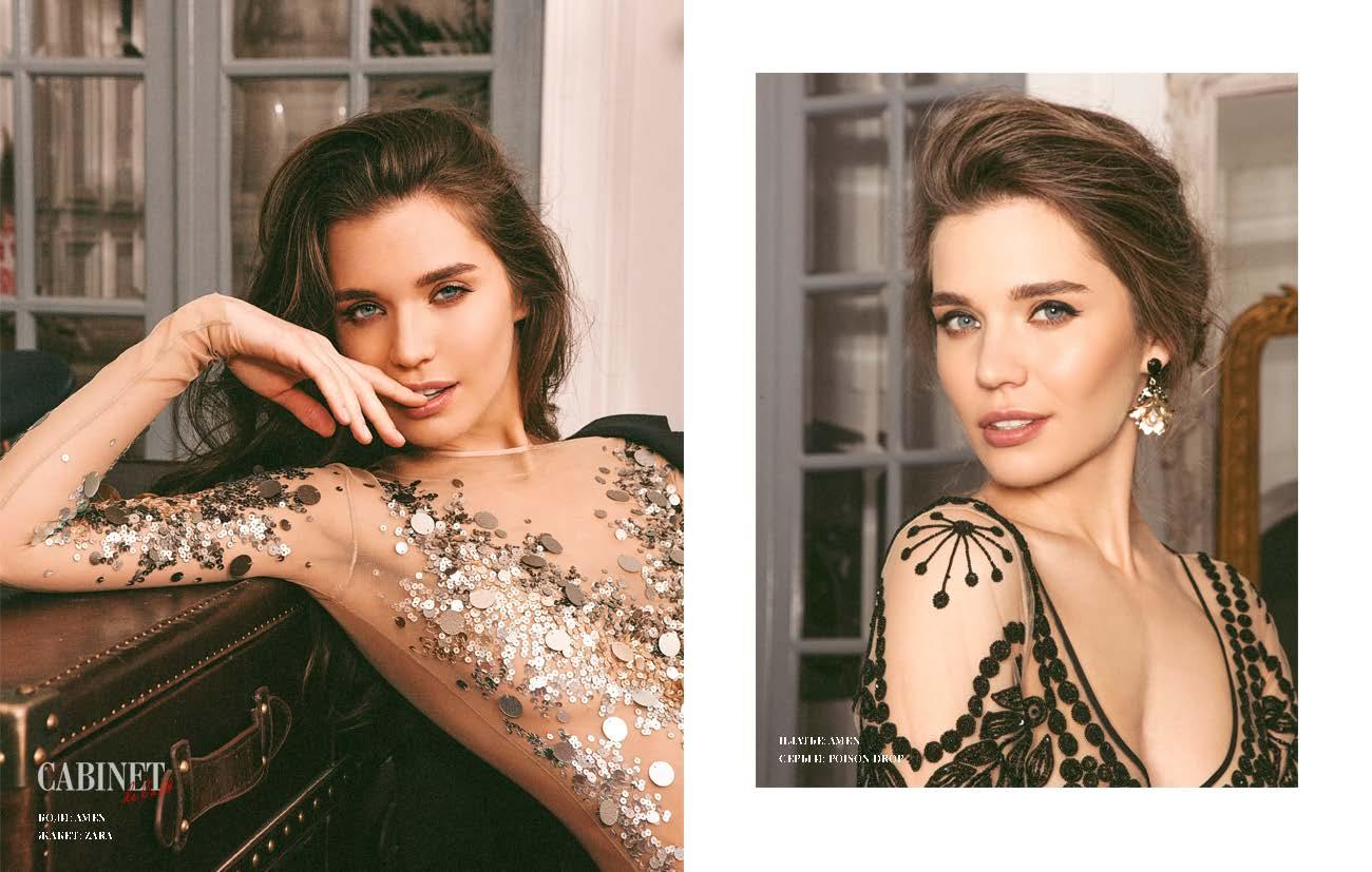 Слева: боди Amen, жакет Zara. Справа: платье Amen, серьги Poison drop.