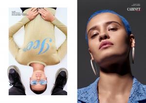 Слева: на ней: свитер Ice Play; на нём: брюки Lost&Found, кроссовки RBRSL - Rubber  Soul. Справа: Жакет Pinko, серьги Alchemia