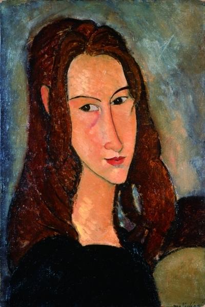 """""""Портрет Жанны Эбютерн"""",1918"""