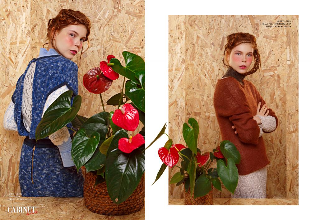Слева:shirt – H&M, top – Zara, dress – Ulyana Lineva; Справа:shirt – H&M, pullover - Sviter by Olga, dress – Ulyana Lineva