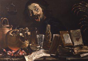 Питер ван Лар ( 1599- 1642) Автопортрет с атрибутами занятий магией. Ок.1635-37гг