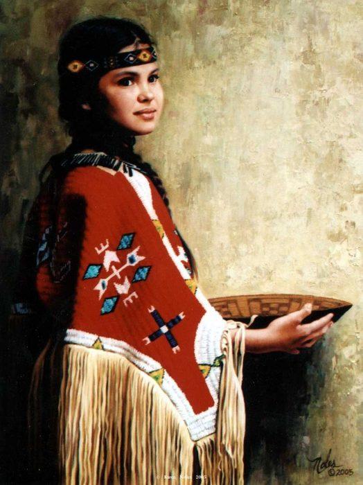 Карен Нолес «Ребенок американских индейцев»