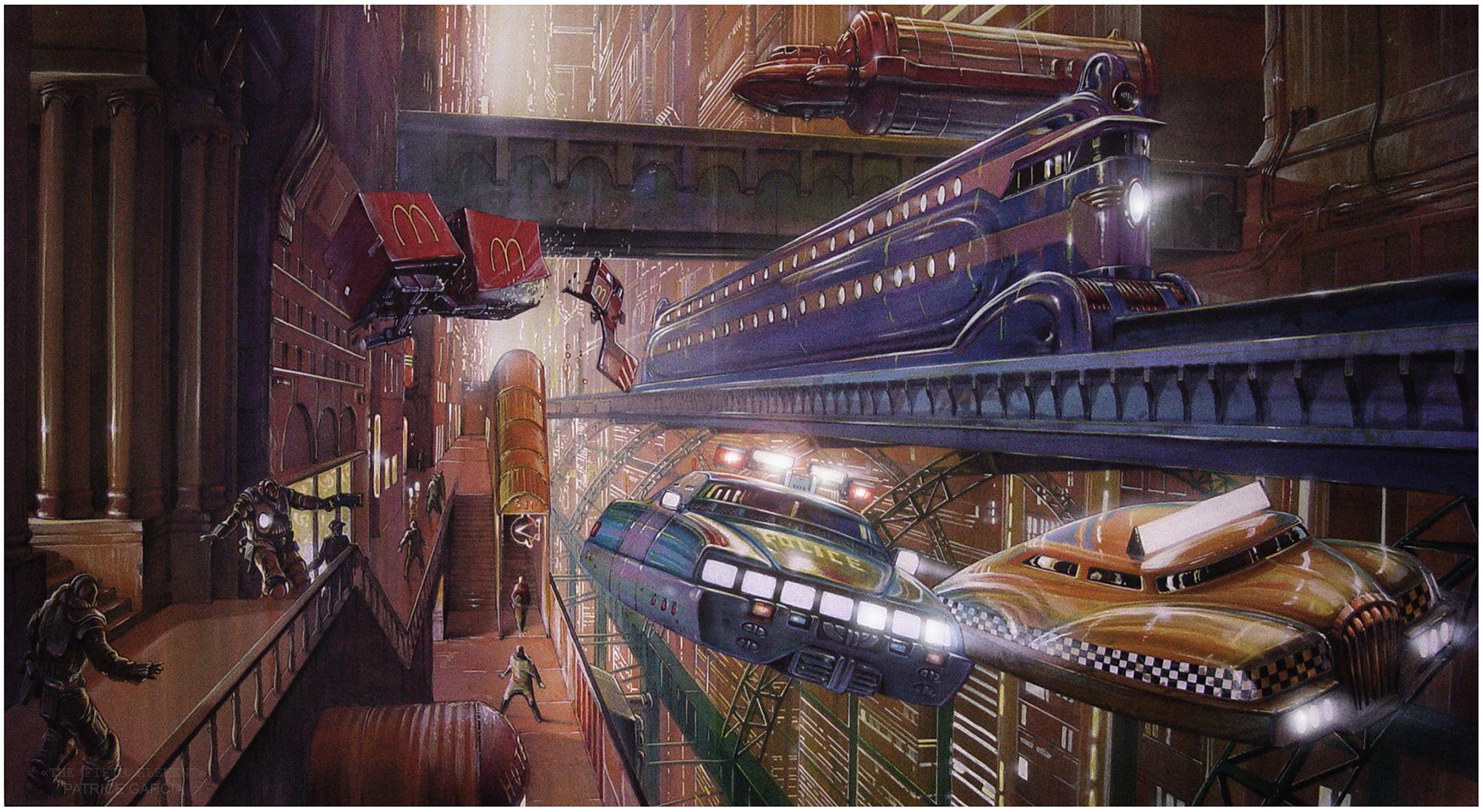 Мегаполис, эскиз для фильма Пятый элемент
