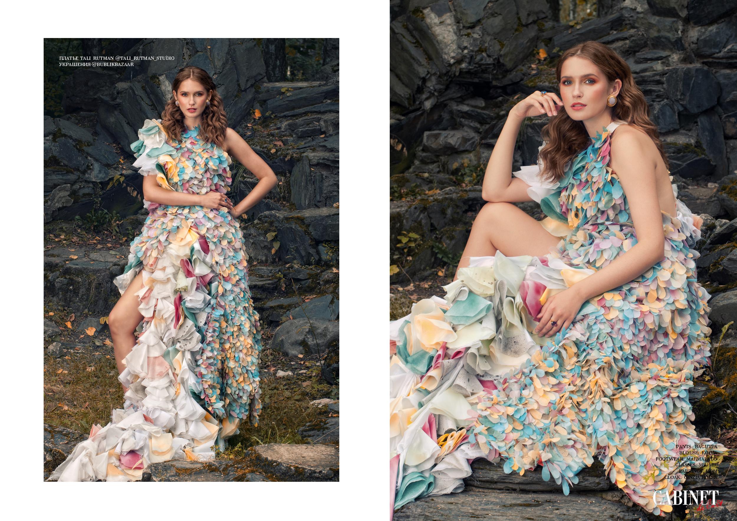 Платье Tali Rutman @tali_rutman_studio, украшения @bublikbazaar