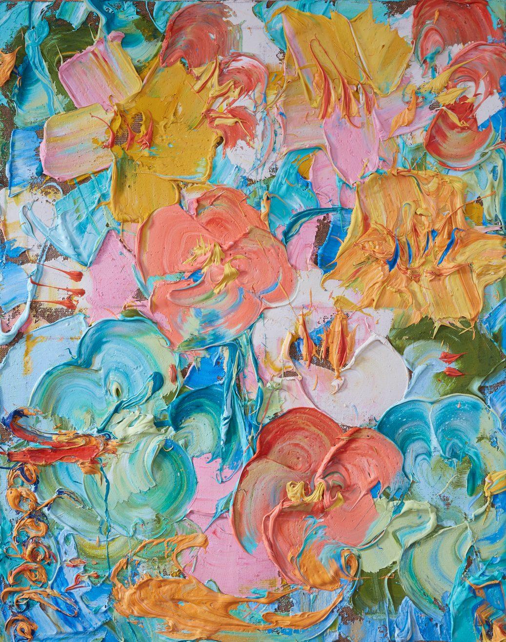 """""""Цветы"""", 2014 г., холст, масло, 100х80 см, 78 000₽"""