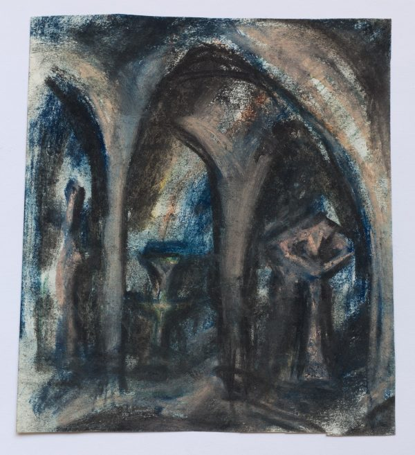 Илья Табенкин Арки 1980-е бумага пастель