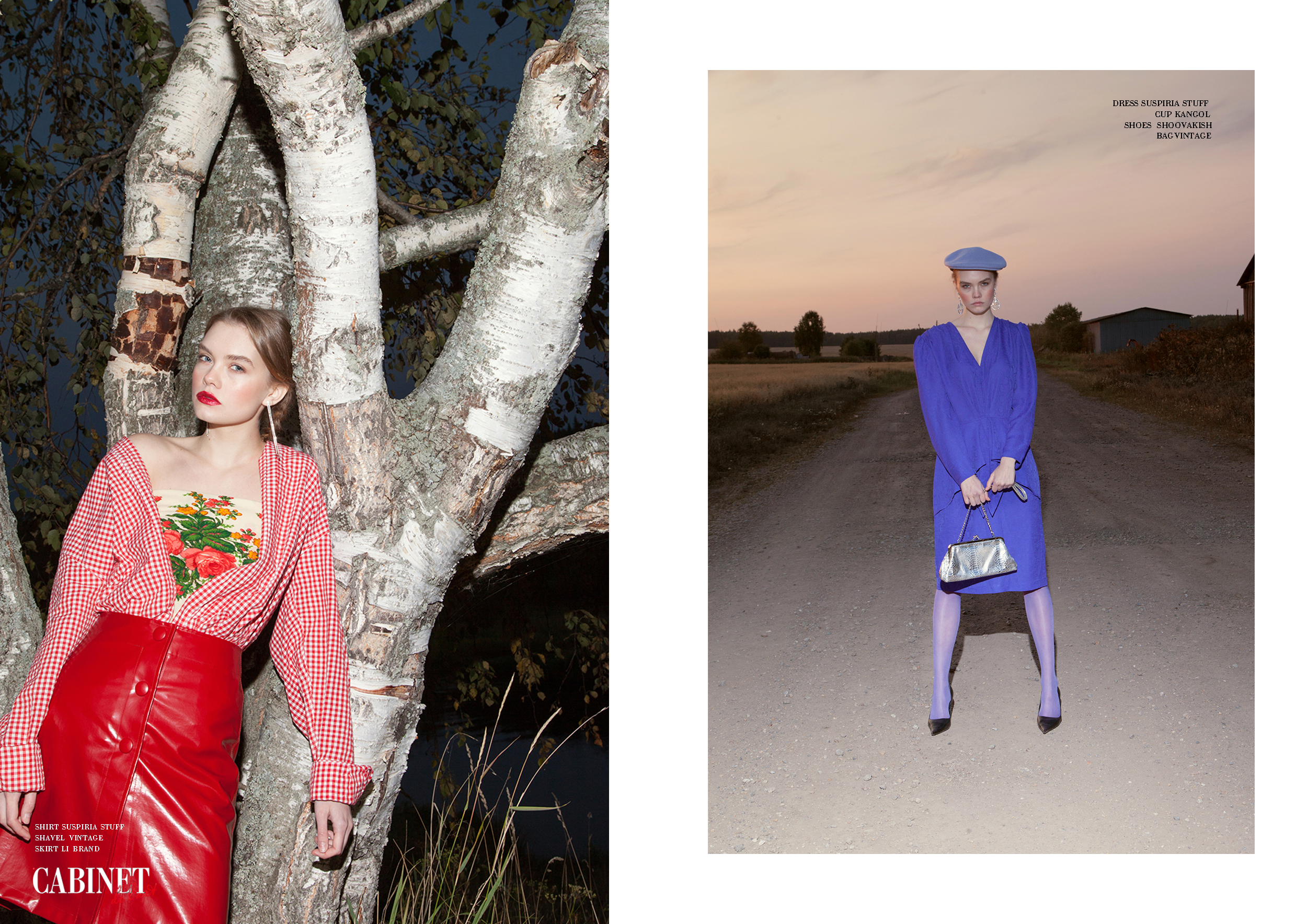 Справа: Shirt Suspiria Stuff Shavel vintage,Skirt Li Brand ; Слева:Dress Suspiria Stuff Cup Kangol Shoes Shoovakish, Bag Vintage