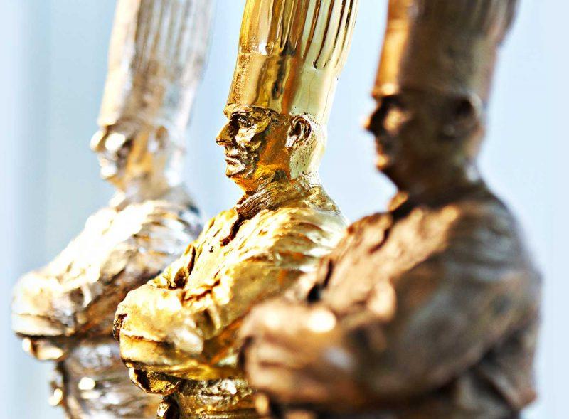 Статуэтки золотой, серебряный и бронзовый Бокюз