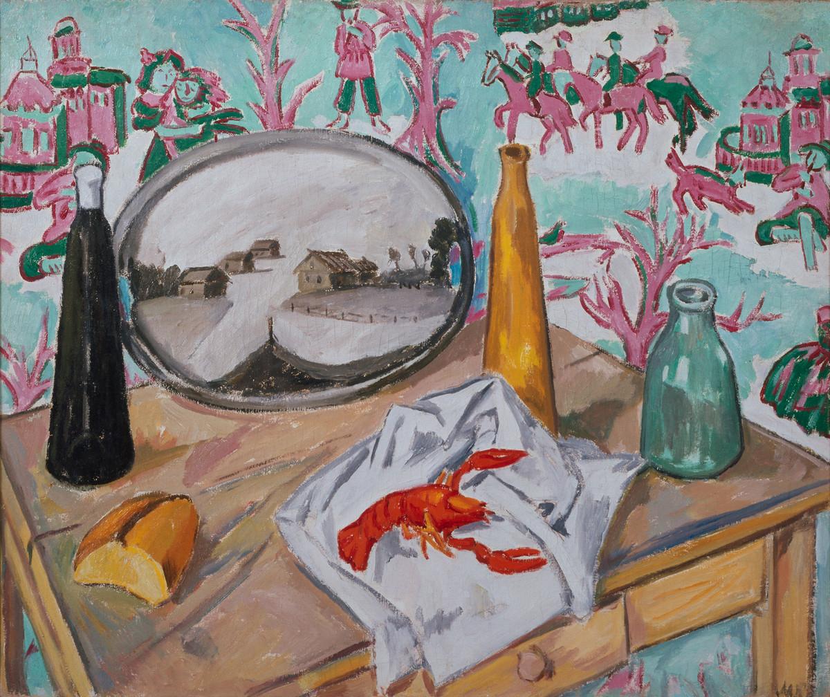 Still_Life_with_Lobster_(Larionov,_1907)