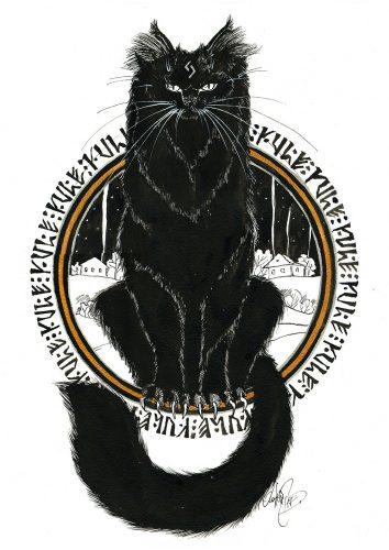 Рисунок йольского кота - Катерина Трошкова @goodwill_eeh