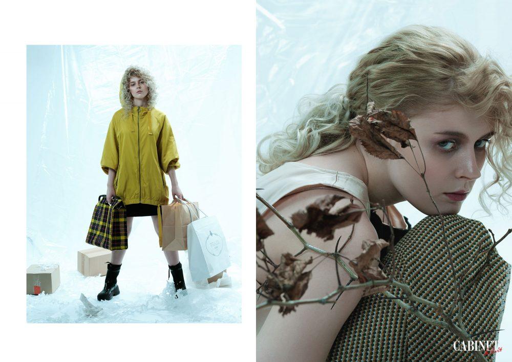 Слева: Куртка Marni; Юбка Roze des Vents; Сапоги Liu Jo; Сумка Zara.Справа:Топ Roze des Vents; Юбка Zara;