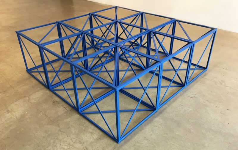 Rasheed Araeen, Nine, 1967, wood and paint, 24 × 24 × 24 in, 61 × 61 × 61 cm, courtesy the artist