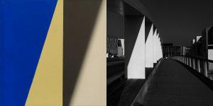 UNIVERSE НОВЫЙ МОСТ живопись: холст, масло. Диана Воуба фотография : пигментная печать на архивной бумаге. Алан Воуба 80x166.5 см