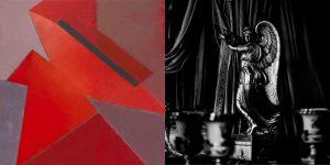 UNIVERSE  АНГЕЛ СТРАСТИ живопись: холст, масло. Диана Воуба фотография : пигментная печать на архивной бумаге. Алан Воуба 80x160 см