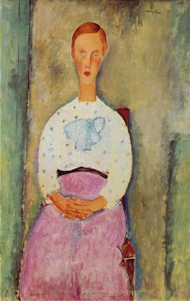 Девушка в блузев горошек Амедео Модильяни