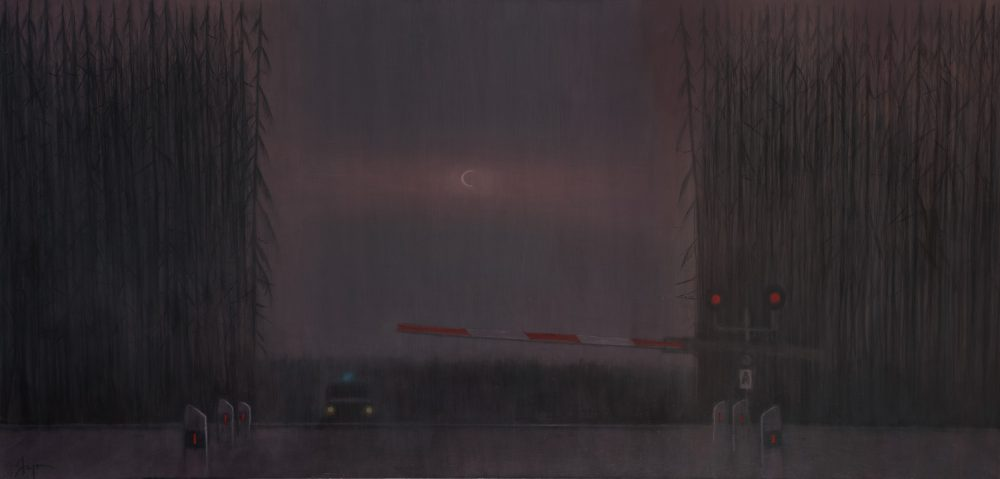Из серии Н Е О Н Переезд 2013 Холст, акрил, уголь 100 × 210 см