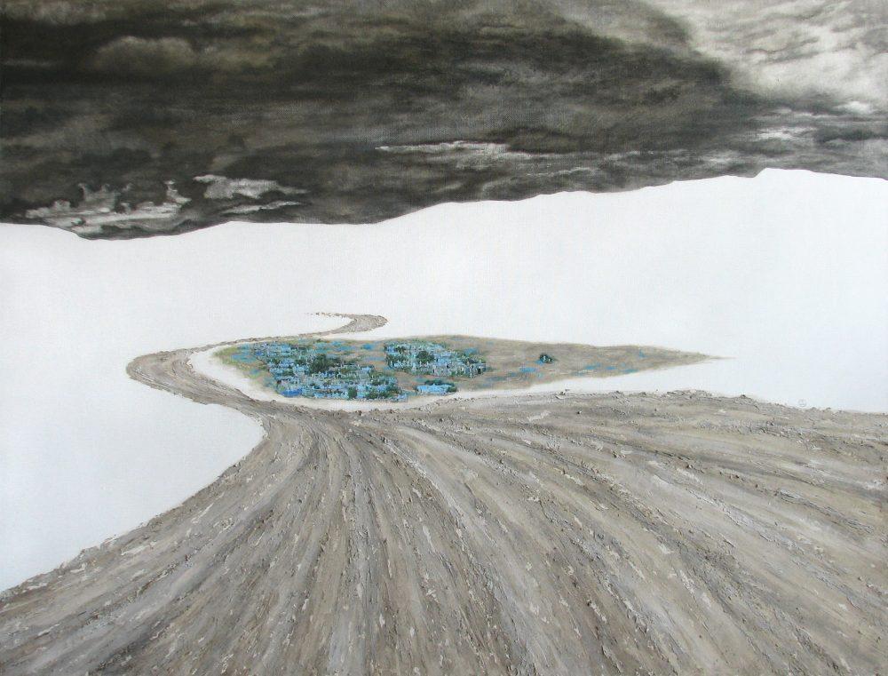 Мертвое озеро. х.м.117х154см