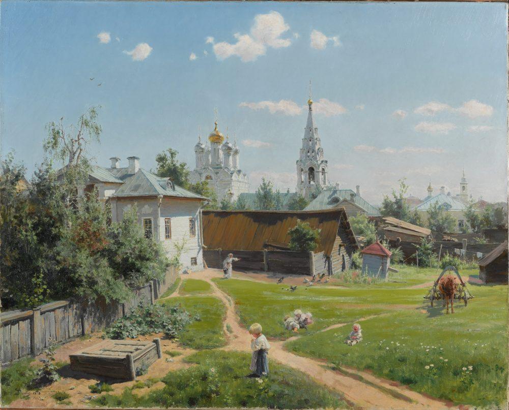 В.Д. Поленов, Московский дворик. 1878