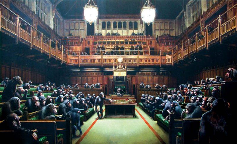 Бэнкси, Скатившийся Парламент, 2019