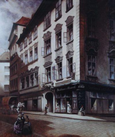 Юлиус Майнл I открывает магазин специй в центре Вены. Здесь продаются кофе, какао-бобы, чай, пряности.