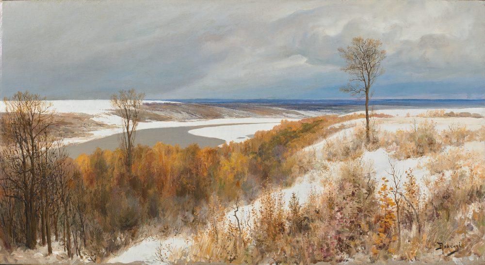 В.Д. Поленов, Ранний снег. 1891