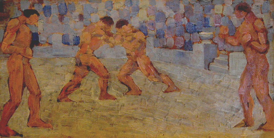 Н. Карахан, Борцы. 1920-е годы